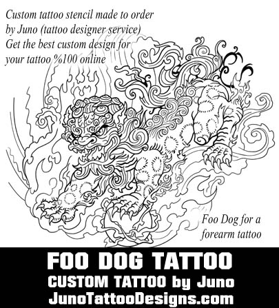 Juno Tattoo Designs Template Foo Dog Designer Service Create Your