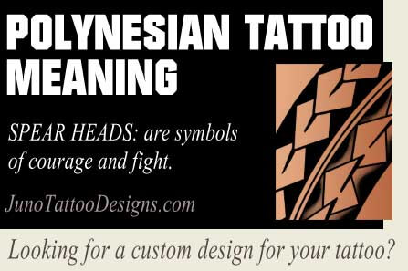 polynesian symbol meaning spear heads - juno