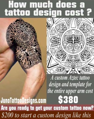 Aztec tattoos templates calendar tattoo get yours for How much for a tattoo