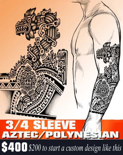 aztec tattoo, forearm tattoo, custom tattoo design, juno tattoo designs.com, create your tattoo, tattoo designer online