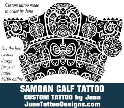 Samoan calf tattoo, polynesian calf tattoo, tribal tattoo, juno tattoo designs