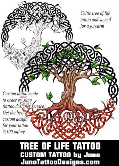 celtic tree of life tattoo, juno tattoo designs