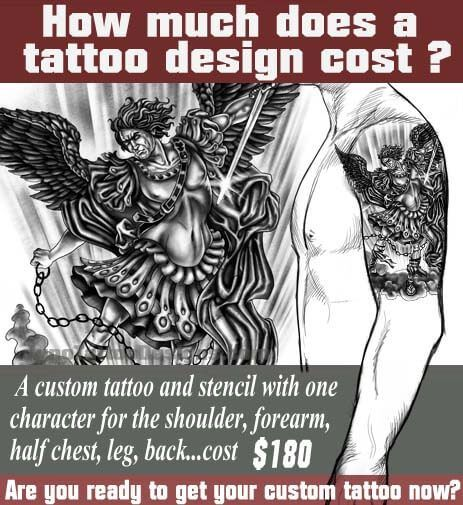 how does much a tattoo cost, archangel tattoo, juno tattoo design