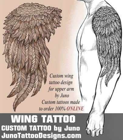 wings tattoo, juno tattoo designs