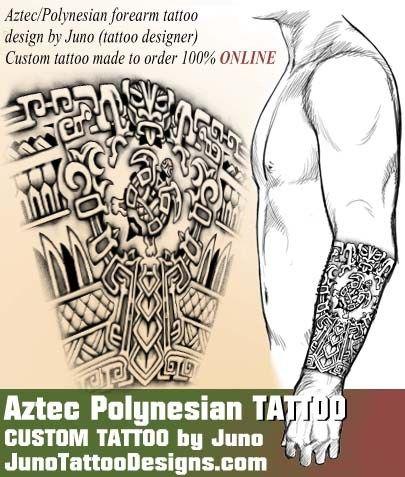 aztec tattoo, polynesian tattoo, juno tattoo designs