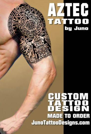 aztec tribal tattoo, shoulder man tattoo, juno tattoo designs