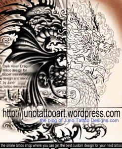 Gothic-Asian-Dragon-tattoo-for-arm-by-Juno