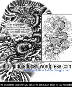 asian-dragon-tattoo-for-full-arm-by-Juno
