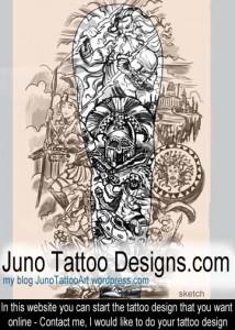 greek mythology tattoo by Juno (2)