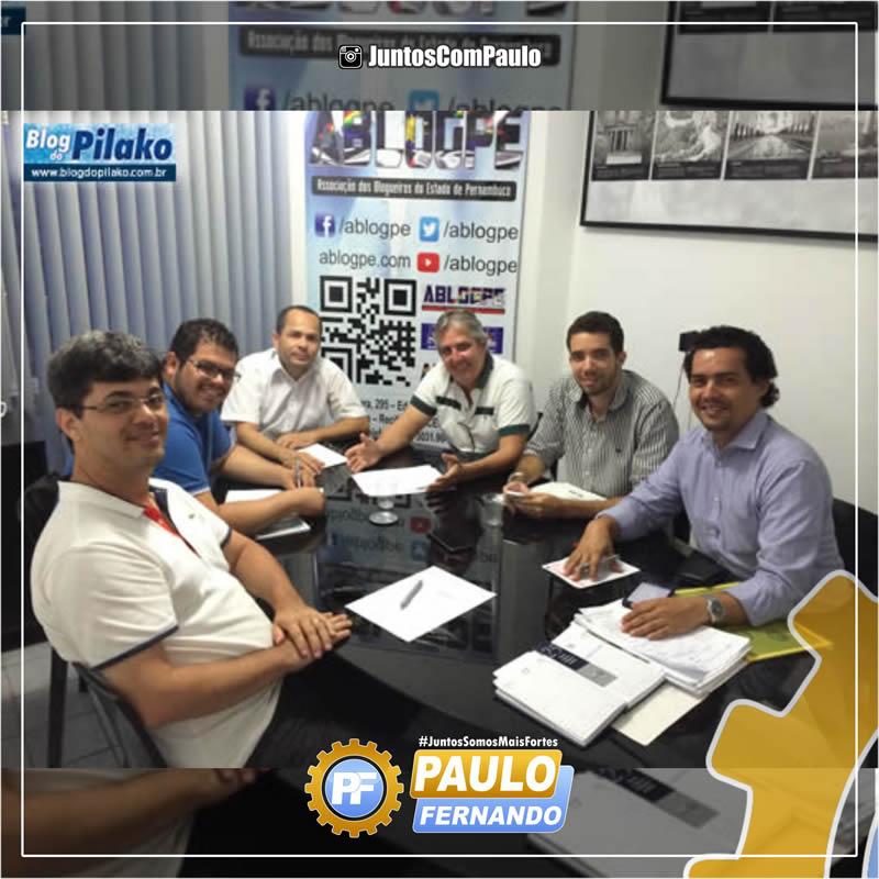 Paulo Fernando participa de reunião com Blogueiros