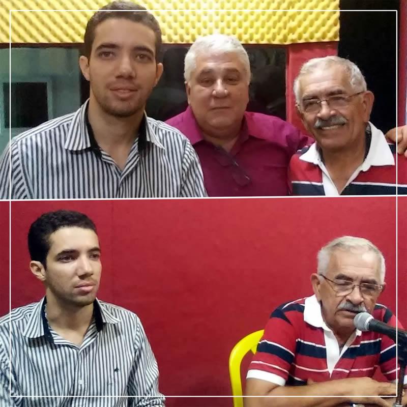 Paulo Fernando e Yves na Rádio Goiana
