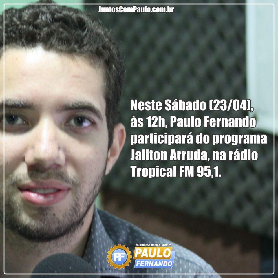 Paulo Fernando na Rádio Tropical Fm 95.1