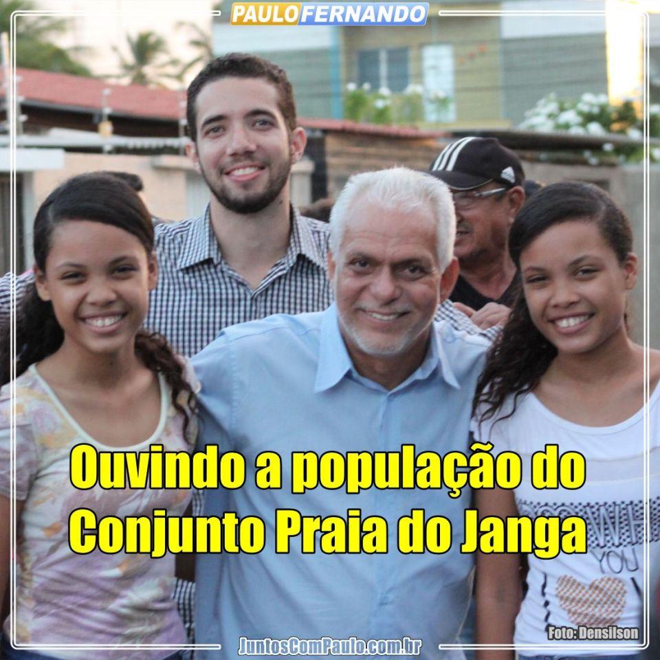Paulo Fernando ouvindo o Bairro do Janga