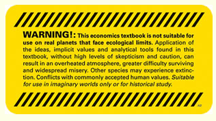 "Adhesiu ""Warning Economic Endoctrination"" by Adbusters"