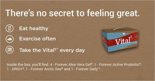 Argi plus banner-Forever Living offers the Vital5 to help support the Nutrient Superhighway.