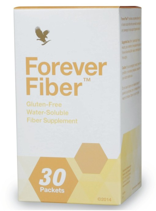 Forever Fiber provides 5 grams of quick-dissolving fiber in a convenient stick pack to support a healthy diet. recommend 30 grams of fiber daily