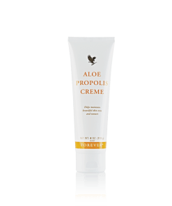 Aloe Propolis Creme is a rich blend of stabilized Aloe Vera Gel and Bee Propolis, with other ingredients recognized for their contribution to healthy skin.