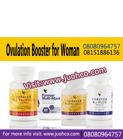 Ovulation Booster for Woman helps boosts your immune system and regulates menstrual cycles and helps addresses your nutritional deficiencies effectively.