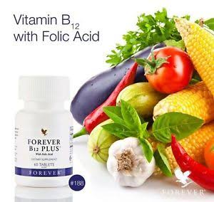 Forever B12 Plus®, Which Combines Vitamin B12 and Folic Acid.