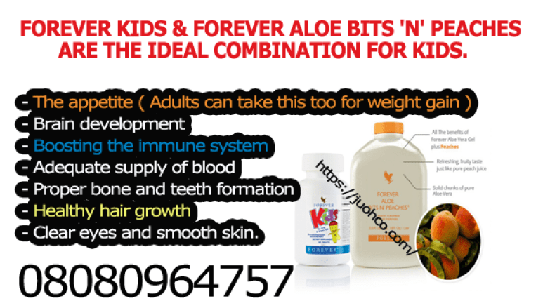 FOREVER KIDS & FOREVER ALOE BITS 'N' PEACHES are the IDEAL combination FOR KIDS.