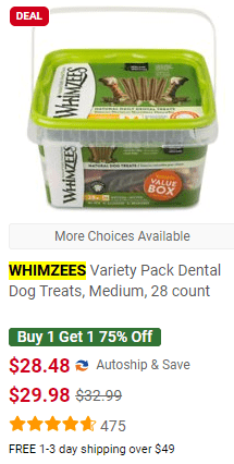 WHIMZEEES Variety Pack Dog Treats