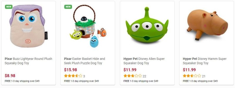 Sample from the 31 Pixar Toys in The Disney Collection at Chewy