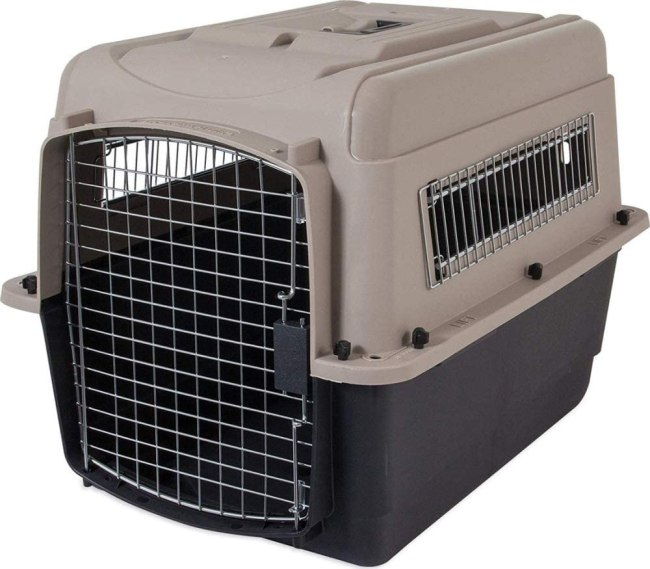 This is the crate we use for our Pitbull.
