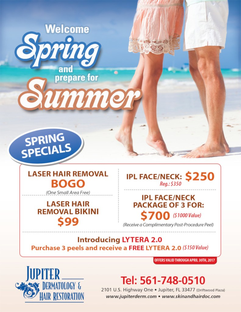 Jupiter Dermatology Spring 2017 sale offers