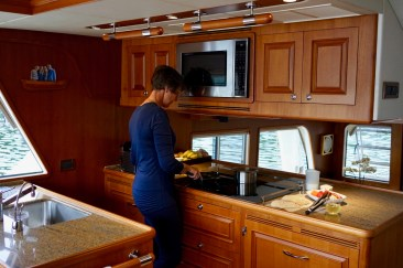 Typical galley hogging