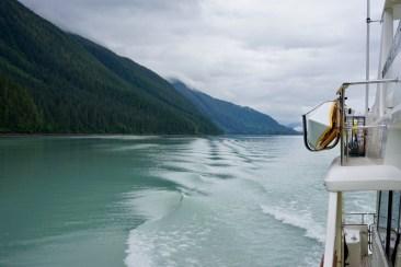 Glacial runoff is an opaque green-grey