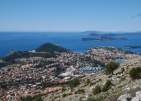 The new part of Dubrovnik and the Elaphites from mount Srđ