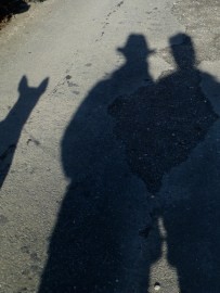 The four of us - Wilfred not yet creating a shadow