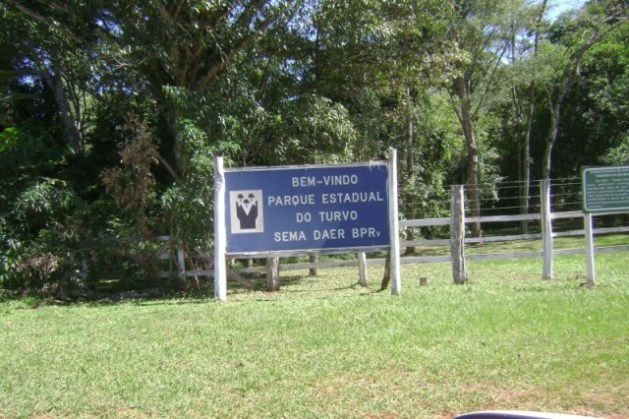 Entrada do Parque Estadual do Turvo, onde fica o Salto do Yucumã