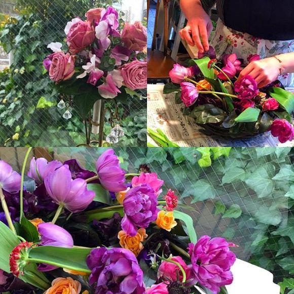 〜〜Arrangements emballés et bouquets ronds〜〜巻かれた形のアレンジメントとラウンドブーケです同じ方向に必ず向かってお花のを入れて行くスタイルです。❣️チューリップの曲がりを利用してクルクルと回るイメージで作り上げます。️そして、お馴染みのラウンドブーケ。2人とも、凄くお上手になりましたねえ〜#名古屋お花教室 #名古屋#星ヶ丘#チューリップ #回る#ブーケ#ラウンド#アトリエジュリア#jurian.com