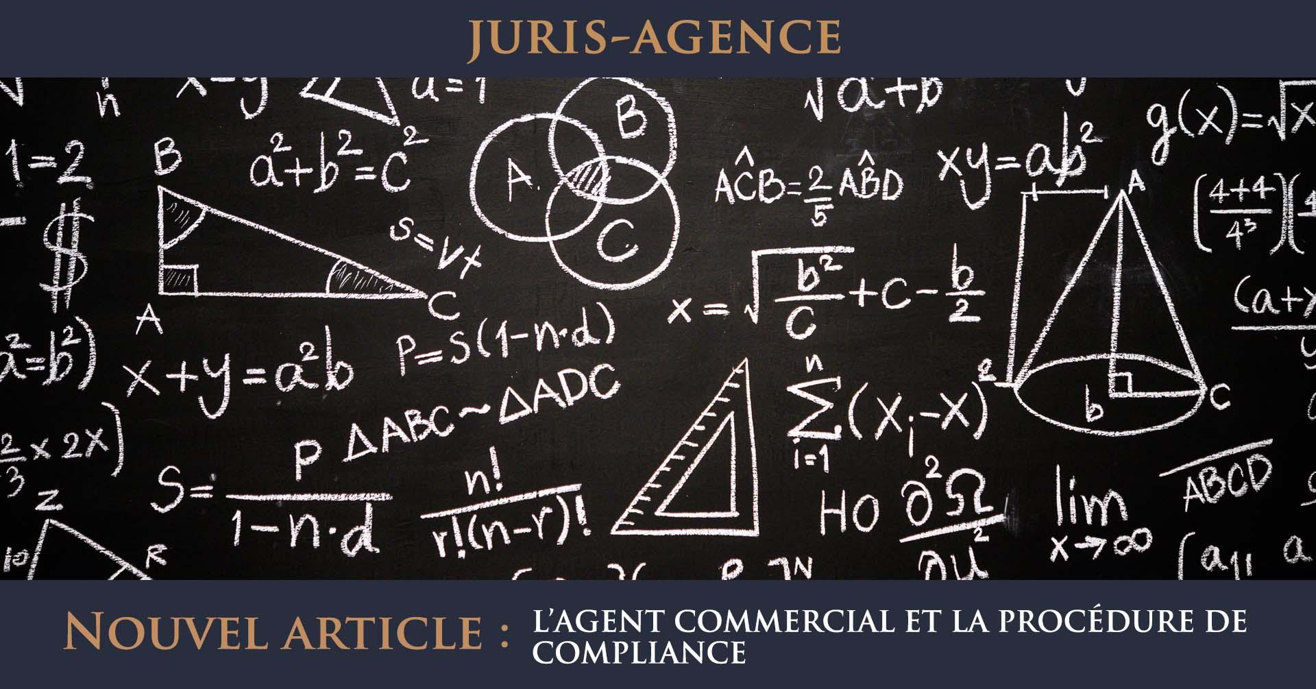 agent commercial procédure de compliance