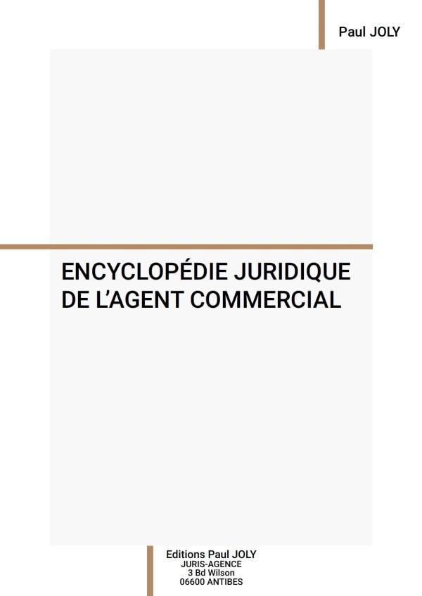 couverture encyclopédie juridique agent commercial