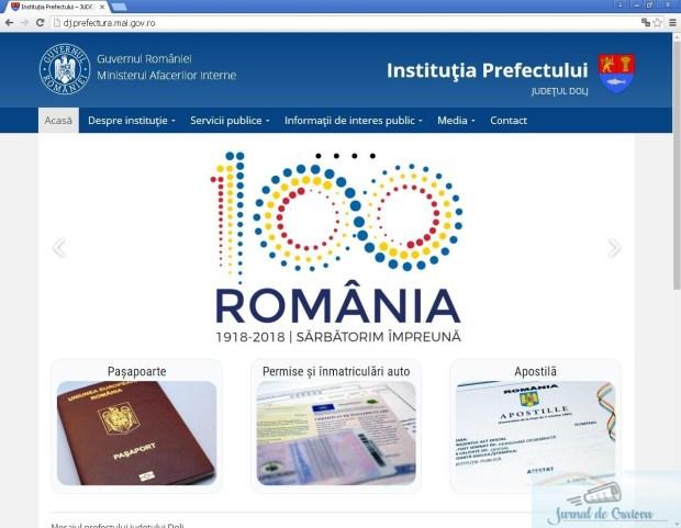 Noul site al Institutiei Prefectului - Judetul Dolj www.dj.prefectura.mai.gov.ro 2