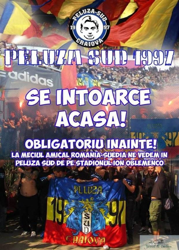 Fotbal : Peluza Sud 1997 se intoarce ACASA ! 2