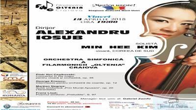 """Concert Ceaikovski cu violonista coreeana Min Hee Kim, la Filarmonica """"Oltenia"""" 1"""
