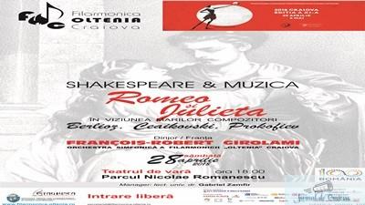 """SHAKESPEARE SI MUZICA : Concert """"Romeo si Julieta"""" in Parcul Romanescu"""
