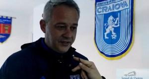 Fotbal/Ovidiu Turcu ,Antrenor FC U Craiova la finalul meciului din Cupa Romaniei 12