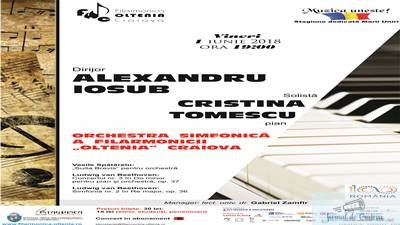 "Concert Beethoven pe 1 iunie la Filarmonica ""Oltenia"" Craiova"