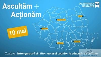 Platforma Romania 100 Intre gargara&actiune: accesul copiilor la educatie de calitate