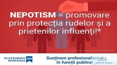 Platforma Romania 100 constata ca actualul Guvern continua numirea de consuli romani in strainatate pe criterii subiective, printr-un sistem bazat pe clientelism si pe nepotism. 1