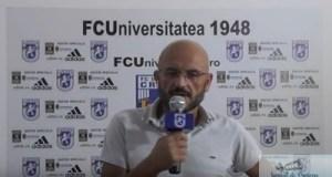 Fotbal : Adrian Mititelu a prefatat meciul de maine de la Severin dintre FC U Craiova si Atletic Bradu 22
