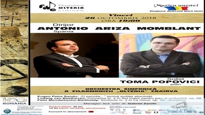 Filarmonica Oltenia Craiova : Concert simfonic cu spaniolul Antonio Momblant la pupitrul dirijoral 1