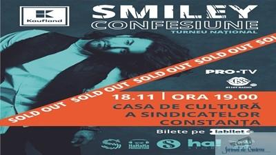 Cu 3 saptamani inaintea Turneului National Confesiune, Concertul lui Smiley din Constanta este sold out 1