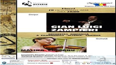 Filarmonica Oltenia Craiova : Celebrul Concert in Re major de Brahms  cu un talent incontestabil, violonista Malina Ciobanu 1