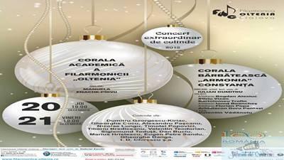 Concert extraordinar de colinde la Filarmonica Oltenia Craiova