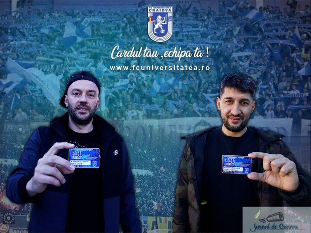 Fotbal : Premiera in Romania ! Jucatorii echipei Universitatea Craiova , Florin Costea si Mihai Dina si-au achizitionat Cardul de Fidelitate ! 1